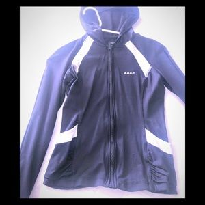Bebe sport stretch fitted hoodie
